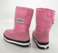 Сапоги зимние 405 PINK with reflect binding  KING BOOTS