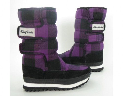 Сапоги зимние для девочки Gerda  Bordeaux KB-B0221-VT  WATERPROOF Мембрана Tex KING BOOTS