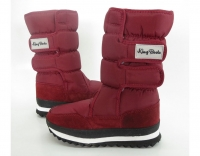 Сапоги зимние 9589-1 nylon pure dark red KING BOOTS
