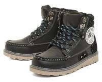 Ботинки осенние для мальчика утепленные KB10210SW Schwarz KING BOOTS